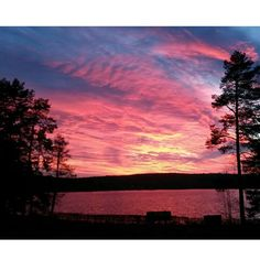 Wintter is coming  4pm #sunset #home #nature #landscape #saimaa #finland…