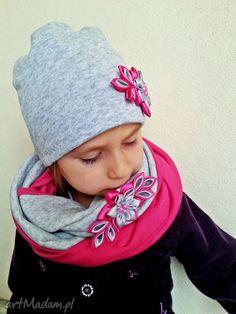 Kompet dla dziewczynki czapka szalikiem kominy bukiet pasji