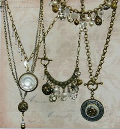 Vintage Button Necklace- Upcycled Jewelry by Donna Sutor. #ecofashion #repurpose #upcycled