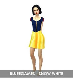 Sims 4 Challenges, The Sims 4 Packs, Snow White Dresses, Sims 4 Dresses, Sims4 Clothes, Sims 4 Cc Furniture, Sims 4 Clothing, The Sims4, Sims 4 Mods