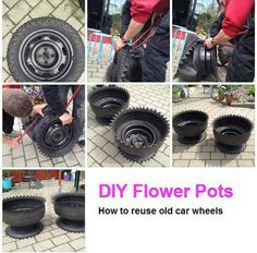 DIY planters from old tires!