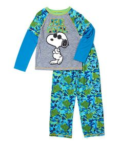 Loving this Peanuts 'Cool Joe' Pajama Set - Toddlers & Boys on #zulily! #zulilyfinds