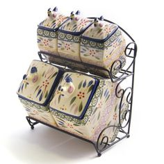 temp-tations® by Tara:  temp-tations® Old World Bistro Canister Set with Wire Holder