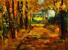 "artishardgr: "" Wassily Kandinsky - Park of St. Cloud, Autumn 1906 """