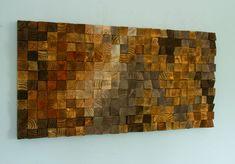 Arte escultura de madera de la pared mosaico de por ArtGlamourSligo
