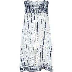 Monsoon Noa Emb Tie Dye Dress