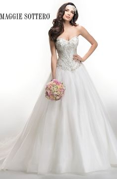 Sweetheart A-Line Wedding Dress  with Dropped Waist in Organza. Bridal Gown Style Number:33003658