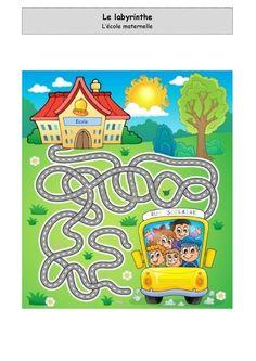 Labyrinthe - L'école maternelle Test Prep, Maze, Childcare, Kids And Parenting, Activities, Education, Album, Gross Motor, Labyrinths