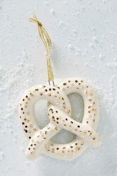 Ceramic Pretzel Ornament - anthropologie.com