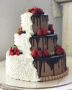Consider a divided cake if you and your fiance can decide between chocolate or vanilla!