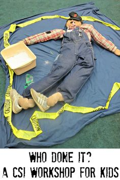 Are your kids interested in forensic science and crime scene investigation. You can build your own CSI workshop for kids at home. Science Week, Summer Science, Science For Kids, Science Ideas, Science Projects, Summer Camp Activities, Kids Group Activities, Team Building Activities, Educational Activities