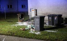 Mülltonnen in Wels-Pernau in Flammen aufgegangen