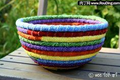 Rope and rags head handmade creative fabric debris basket DIY