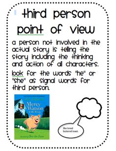 What is the effect of writing in third and first person?