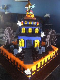 Swell 65 Best Haunted House Cakes Images Haunted House Cake House Funny Birthday Cards Online Inifofree Goldxyz