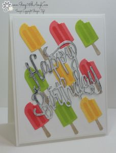 Cool Treats, Frozen Treats Framelits Happy Birthday Thinlit, Silver Foil (exterior)