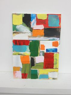 Abstract Mixed Media Collage by CharestStudios on Etsy, $45.00
