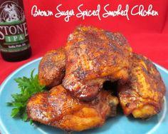 Brown Sugar Spiced Smoked Chicken