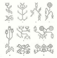 Symbols and ornamental motives in folk art of Moldova - Photo gallery Folk Embroidery, Cross Stitch Embroidery, Cross Stitch Patterns, Moldova, Pattern Illustration, Fabric Patterns, Art Inspo, Folk Art, Pattern Design