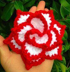 "Ravelry: Rose ""NoSo"" pattern by Cynthia L. Crochet Puff Flower, Crochet Flower Patterns, Love Crochet, Crochet Motif, Crochet Yarn, Easy Crochet, Crochet Flowers, Crochet Stitches, Crochet Crafts"