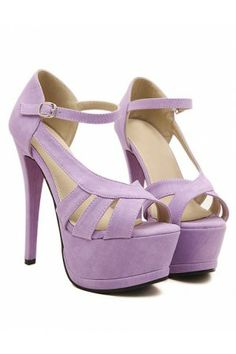Purple High Heels Cheap  Tsaa Heel