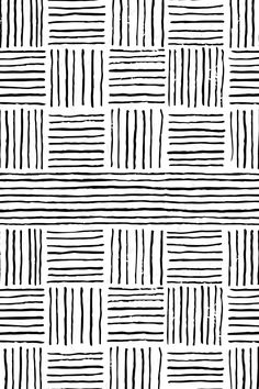 Retro Grace Stripes - Medium by ashleybehnkedesign A simple, hand drawn print with stripes in black and white on fabric, wallpaper, and gift wrap. Add a pop of pattern with unique fabric, wallpaper & gift wrap. Shop over designs White Patterns, Textures Patterns, Print Patterns, Simple Patterns To Draw, Tribal Patterns, Stencil Patterns, Graphic Patterns, Cool Patterns, Retro Wallpaper