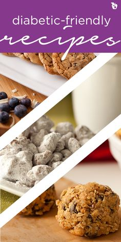 Just because you're watching your sugar intake doesn't mean you have to give up sweets completely. Try one of these diabetic-friendly dessert recipes. Diabetic Recipes, Low Carb Recipes, Diabetic Sweets, Diabetic Foods, Vegetarian Recipes, Sweets For Diabetics, Splenda Recipes, Healthy Treats, Recipes