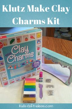 The Klutz Make Clay Charms Kit makes a great gift idea for boys or girls who like creating with clay.  My daughter got this clay making kit and totally loved it.  Click here to find out what kind of charms you can make and where to buy this awesome Clay Charms book.