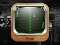 Pong, via dribbble (unknown)