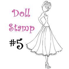 prima doll stamp | Prima Doll Stamp - Julie Nutting - Large Rubber Stamp - Cling Mount ...