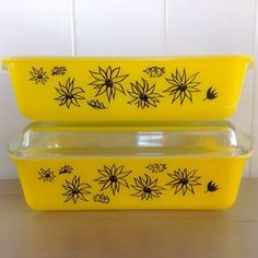 Agee Pyrex Flannel Flower Casserole Dishes