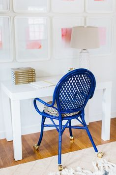 How to Transform a Plain Ikea Chair Into Glam Office Seating