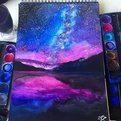 Galaxy Painting By @jg_draws _ @arts__gallery