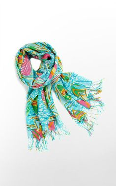Lilly Pulitzer - You Gotta Regatta scarf....why is something so beautiful, so expensive. WHY!?!