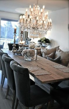 Rustic Glam Dining Room Makeover room ideas on a budget dining room ideas room ideas modern room ideas apartment room room ideas diy Dining Room Design, Dining Room Table, Dining Area, Dining Chairs, Dining Room Inspiration, Interiores Design, Sweet Home, Room Decor, House Design