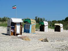 Strandkorb, beach, summer