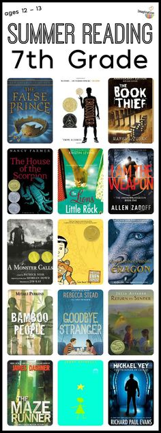 grade summer reading list for ages 12 to 13 Keep your grade readers reading great books all summer with the best recommendations in nonfiction, fantasy, realistic, historical fiction, & more. Summer Reading Lists, Kids Reading, Teaching Reading, Reading Books, Close Reading, Learning, Reading Art, Student Reading, Good Books
