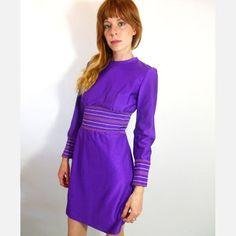 70's Waltah Clarke Mini Dress, now featured on Fab.