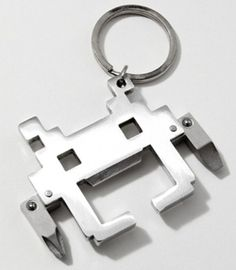 Space Invaders Multi Tool Keychain – Internet Siao