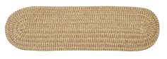 Softex Check Indoor Outdoor Braided Rectangle Stair Tread, CX13 Pale Banana