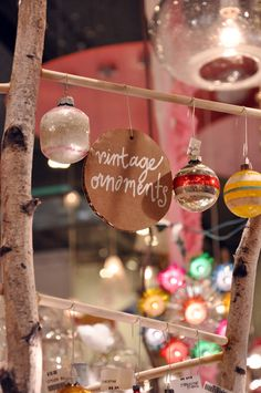 Vintage Christmas ornaments from ABC Carpet & Home!