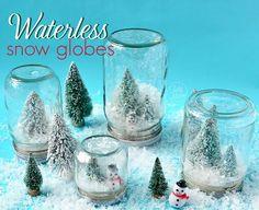 Waterless Snow Globes {tutorial}