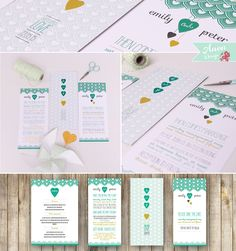 Wedding ideas beautiful wedding invites 104 people found 23 images first comes love green and mustard wedding invites with a strong heart based patterned approach stopboris Image collections