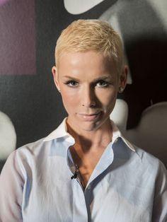 Short blonde hair - Gunhild Stordalen