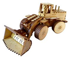 Heartwood Toys Laser Cut Wood Front End Loader Toy Kit DIY Build it Yourself * You can find more details by visiting the image link.