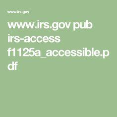 www.irs.gov pub irs-access f1125a_accessible.pdf