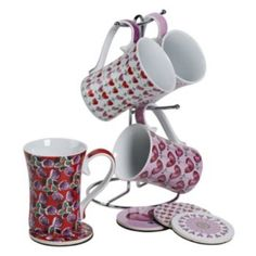 Kathy Davis Love 9-pc. Mug Tree Set  sc 1 st  Pinterest & Kathy Davis Happiness 4-pc. Place Setting | ~home...kitchen ...