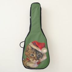 Sweet Santa Kitty Christmas Guitar Case - red gifts color style cyo diy personalize unique