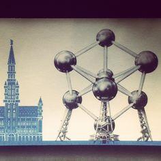 #atomium #bruxelles #brussels #brussel #expo #exposition #expo58 #58 #exhibition #tentoonstelling world fair #atomium #star #ster #etoile #fifties #atomic #atomicage #design #top #art #kunst #symbol