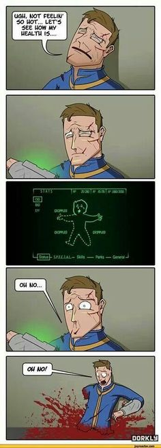 Fallout: it's only a flesh wound